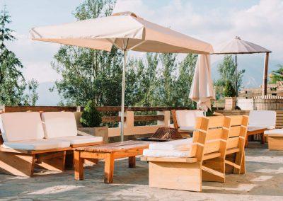 Terraza - Hotel Chalet Valluga
