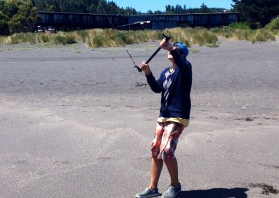 Leccion de kite frente a Hotel Punta Sirena