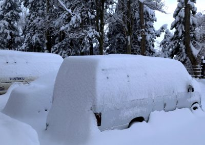 NIEVE Automoviles cubiertos Nieve 01