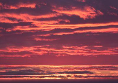 NIEVE Nubes Rojizas Atardecer