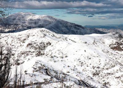 NIEVE Vista a Santiago Nevado