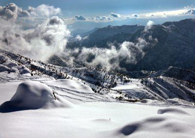NIEVE Vista a Santiago Nevado Farellones